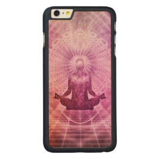 Spiritual Yoga Meditation Zen Colorful Carved Maple iPhone 6 Plus Case