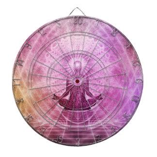 Spiritual Yoga Meditation Zen Colorful Dartboard