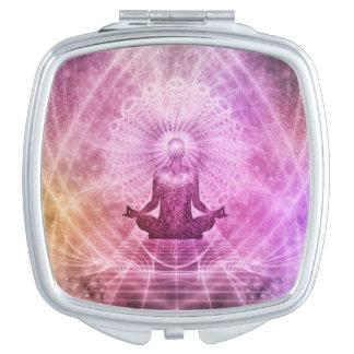 Spiritual Yoga Meditation Zen Colorful Mirrors For Makeup