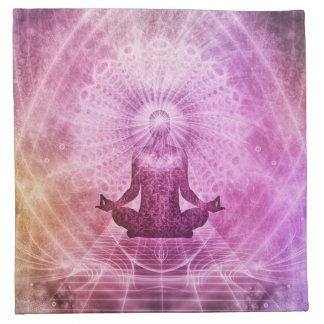 Spiritual Yoga Meditation Zen Colorful Napkin