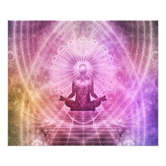 Spiritual Yoga Meditation Zen Colorful Photo Print