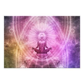 Spiritual Yoga Meditation Zen Colorful Photograph