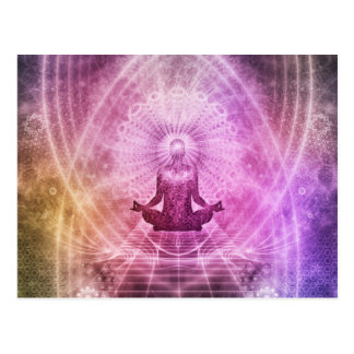 Spiritual Yoga Meditation Zen Colorful Postcard