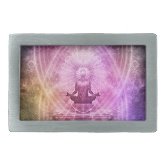 Spiritual Yoga Meditation Zen Colorful Rectangular Belt Buckle