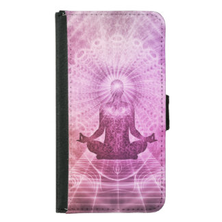 Spiritual Yoga Meditation Zen Colorful Samsung Galaxy S5 Wallet Case