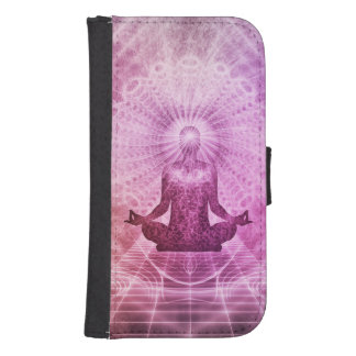 Spiritual Yoga Meditation Zen Colorful Samsung S4 Wallet Case