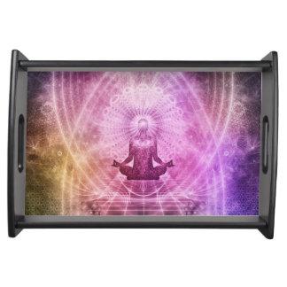 Spiritual Yoga Meditation Zen Colorful Serving Tray