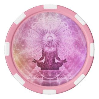 Spiritual Yoga Meditation Zen Colorful Set Of Poker Chips