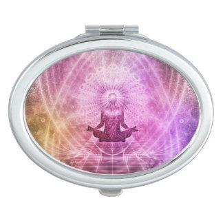 Spiritual Yoga Meditation Zen Colorful Travel Mirrors