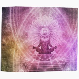 Spiritual Yoga Meditation Zen Colorful Vinyl Binders