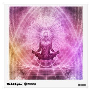 Spiritual Yoga Meditation Zen Colorful Wall Decal