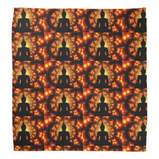 Spiritual Zen Buddha Black Orange Bandanna