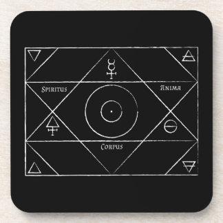 Spiritus Anima Corpus Coasters