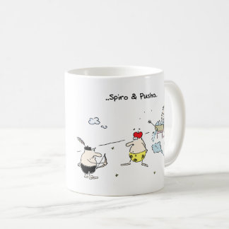 Spiro & Pusho Aim Cartoons Mug