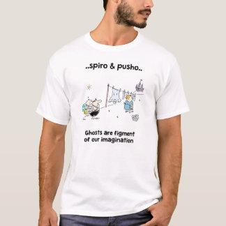 Spiro & Pusho Ghosts Quotes Cartoons T-Shirt