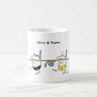 Spiro & Pusho Hunting Cartoon Mug
