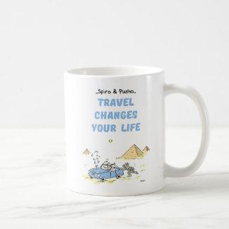 Spiro & Pusho Travel Quotes Mug
