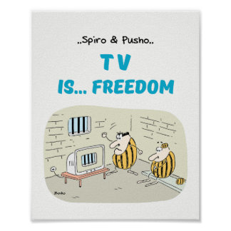 Spiro & Pusho TV Quotes Cartoons Poster 8x10