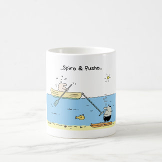 Spiro & Pusho Water Skiing Cartoon Mug