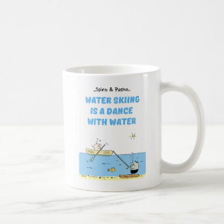 Spiro & Pusho Water Skiing Motivational Quotes Mug
