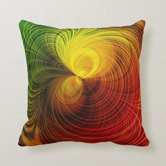 SPIRO  red and green Throw Pillow