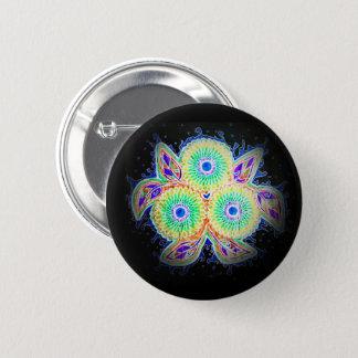 Spirograph floral button