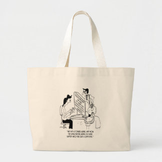 Spirometer Cartoon 7314 Large Tote Bag