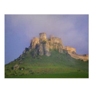 Spissky hrad in mist, Slovakia Postcard