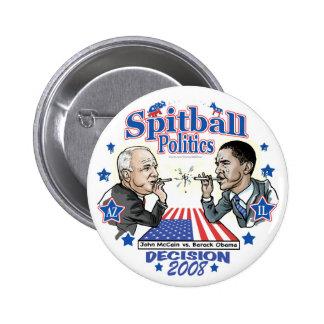 Spitball Politics 2008 2 Inch Round Button