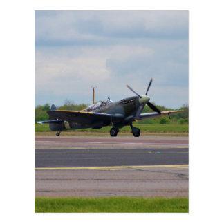 Spitfire After Landing Postcard