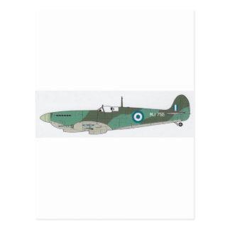 spitfire airplane postcard
