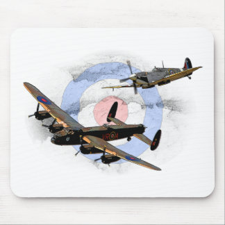 Spitfire and Lancaster Mouse Pad