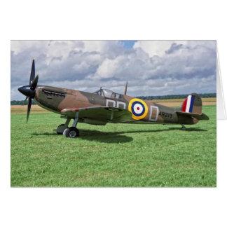 Spitfire AR213 Card