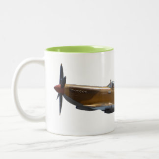 Spitfire from Battle of Britain Two-Tone Coffee Mug