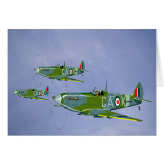 Spitfire Greetings Card