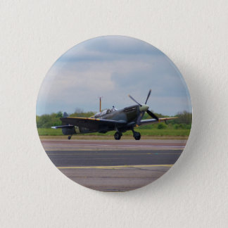 Spitfire On The Runway 2 Inch Round Button