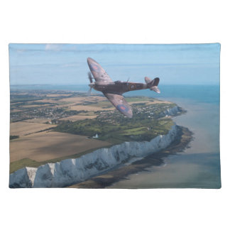 Spitfire over the English coast. Placemat