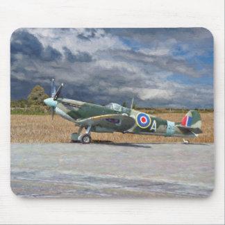 Spitfire Under Storm Clouds Mouse Pad