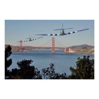 Spitfire's and Golden Gate Bridge Poster