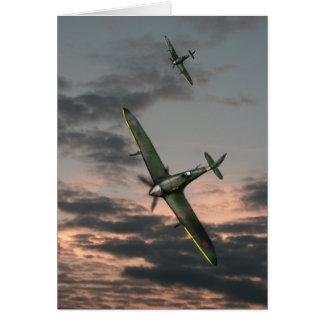 Spitfires at Dusk Card