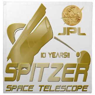 Spitzer Space Telescope: 10th Anniversary!! Printed Napkins