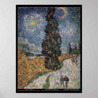 Spitzer Space Telescope / van Gogh Poster