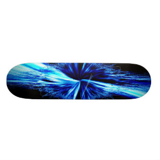 Splash Abstract Digital Fractal Skateboard