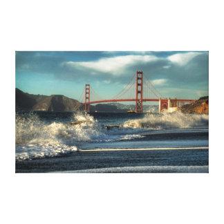 Splash at Baker Beach Canvas Print