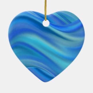 splash ceramic heart ornament