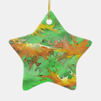 Splash Ceramic Star Ornament