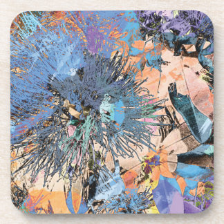 """Splash Collection"" - Pohutukawa Blue Drink Coaster"