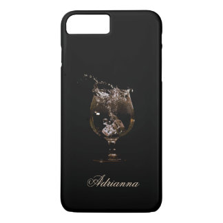 Splash!  Dice in a Wine Glass Monogram iPhone 8 Plus/7 Plus Case