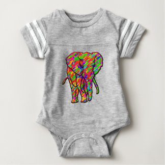 Splash Elephant Baby Bodysuit