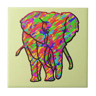 Splash Elephant Tile